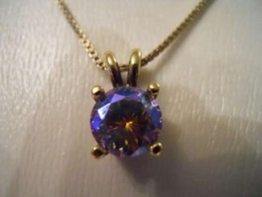 Other Sterling silver aurora borealis pendant necklace