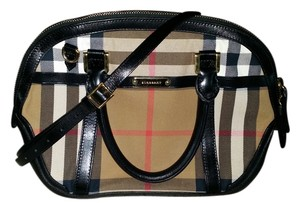 Burberry Bowling Satchel in Bridle House Check