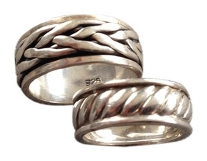 Two Sterling Silver Rings, one Spinner