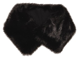 Zara NEW!!! Tags Faux Fur Black Stole Snood Collar Scarf Neck Wrap