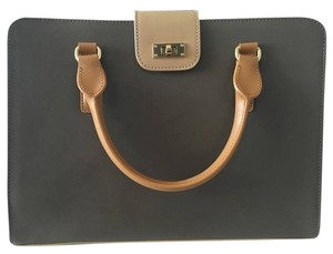 Charles Jourdan Leather Totes Satchel in Taupe