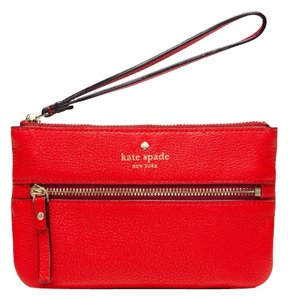 Kate Spade Cherry Pouch Wristlet in Red