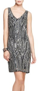 Adrianna Papell Sleeveless Embellished Art Deco Sheath Dress