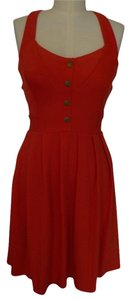 Cooperative short dress Red Backless Cross Back on Tradesy