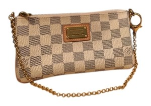 cd26964ecd7 Louis Vuitton Discontinued Milla Mm Damier Azur Pochette Eva White/Gray  Clutch