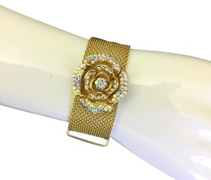 Kirks Folly Kirks Folly Rose Rhinestone adjustable Bracelet