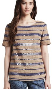 Tory Burch Top Tan, Blue