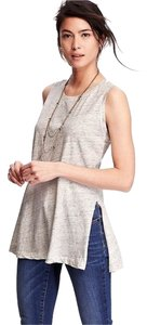 Old Navy Muscle Tee Tunic Top Heather Gray