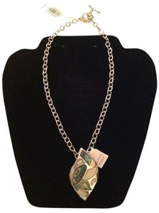 Lia Sophia and 2028 Lia Sophia Nature Reserve Slide & 2028 Chain with Toggle Closure, Mother of Pearl & Abalone