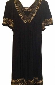 Forever 21 short dress Black with gold detail on Tradesy