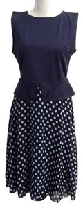 Other short dress Navy Blue and Polka Dots Career Work Classic on Tradesy