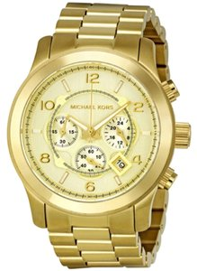 Michael Kors Gold tone Stainless Steel Oversized Designer Casual Fashion Watch