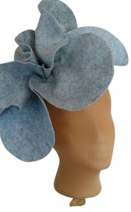 Other Tracey Vest Pale Gray Felt Oversized Rosette Headband Headpiece