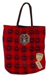 Victoria's Secret Red/Black Plaid Travel Bag