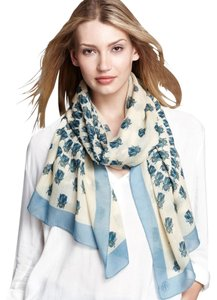 Tory Burch Blue Mountain Scarab Scarf