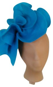 Other Kentuck Derby Prom Turquoise Felt Oversized Rosette Headband Headpiece
