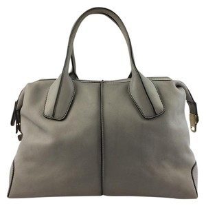 Tod's Tods Gold Hardware Satchel in Gray