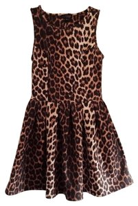 Topshop short dress Leopard Print Skater on Tradesy