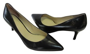 Nine West Size 8.00 M Leather Black Pumps