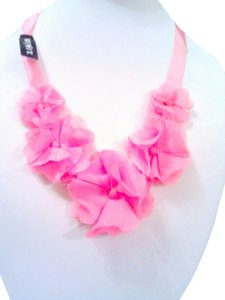 Mixit Silk Pink Roses Statement Necklace Adjustable - Closet Special Gift Deal !!!