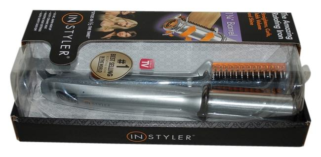 Item - Silver Rotating Hot Iron 1-1/4 Inch Barrel Ceramic with Dvd For Straightening and Curls Hair Accessory