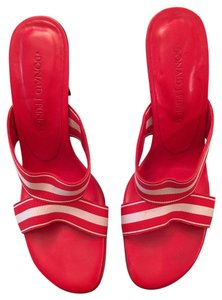 Donald J. Pliner Red & White Sandals