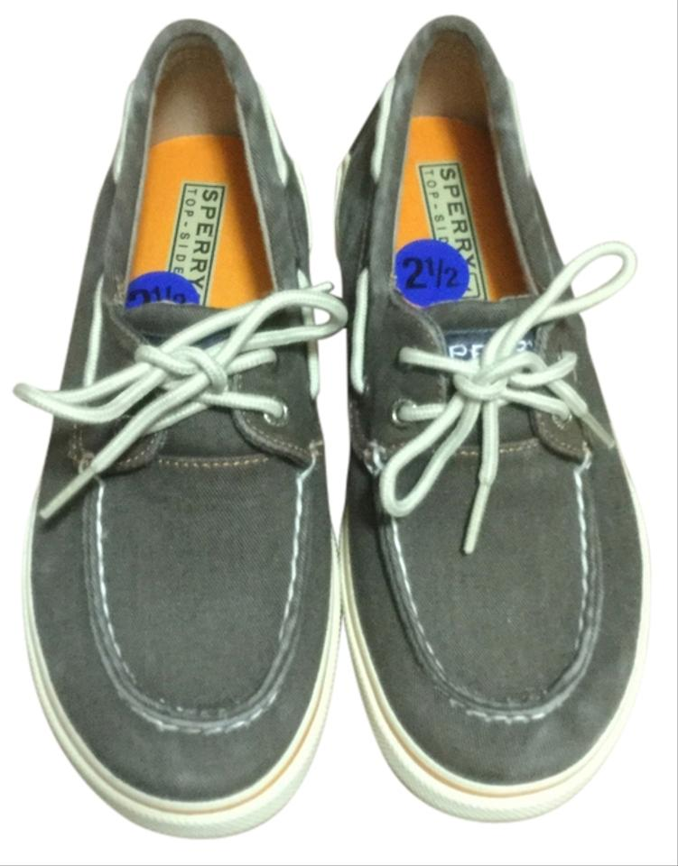 9610e52303 Polo Ralph Lauren Brown  White and Orange On Bottom Sperry Top-slide Formal  Shoes. Size  US 4 ...