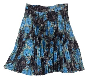 Tucker Silk Skirt Blue/Black