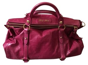 Miu Miu Satchel in magenta