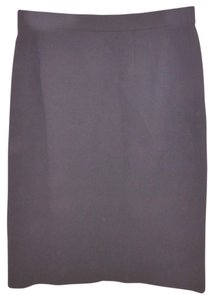 Emanuel Ungaro Wool Pencil Skirt BLACK