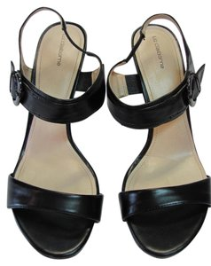 Liz Claiborne Size 9.00 M Good Condition Black Sandals