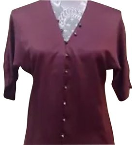 Cooper & Ella Button Down Shirt Wine burgundy