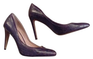 Vince Camuto Leather Chocolate Brown snake print Pumps