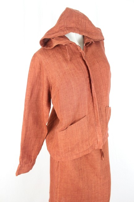 Don Collection Don Collection Rustic Color Two Piece Skirt Suit Medium Top and Small Bottom