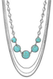 Lucky Brand BRAND NEW! Lucky Brand Silver-Tone Turquoise Collar Necklace