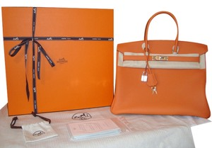 Hermes Birkin Tote in Orange