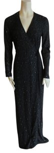 black Maxi Dress by Diane von Furstenberg Lace Emballished