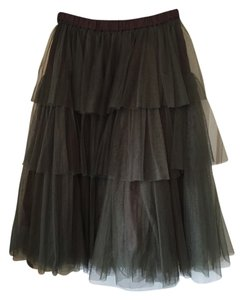 Lilith Tulle Tulle Skirt Army Green