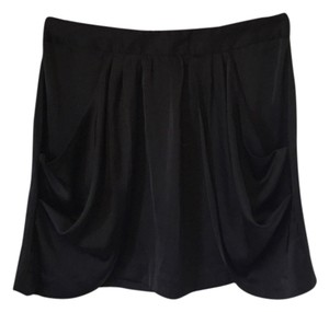 Eight Sixty Silk With Pockets Skirt Black