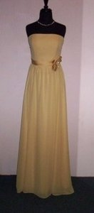 Alfred Angelo Maize Chiffon 7192 Formal Bridesmaid/Mob Dress Size 8 (M)