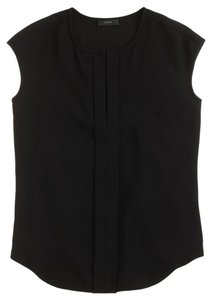 J.Crew Top Black Cap Sleeve