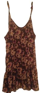 Lush short dress Light Purplish Grey Flowy Floral Large Brunch on Tradesy