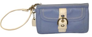 Coach Wristlet in Blue And White