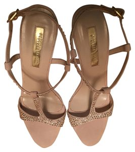 Rebecca Taylor Diamonds Studded Pink Sandals