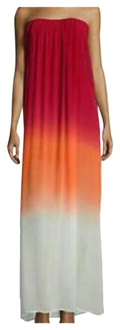 Item - Red and Orange Ombre Long Casual Maxi Dress Size 6 (S)