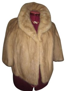 Blonde Mink Short Jacket Fur Real Fur Cape