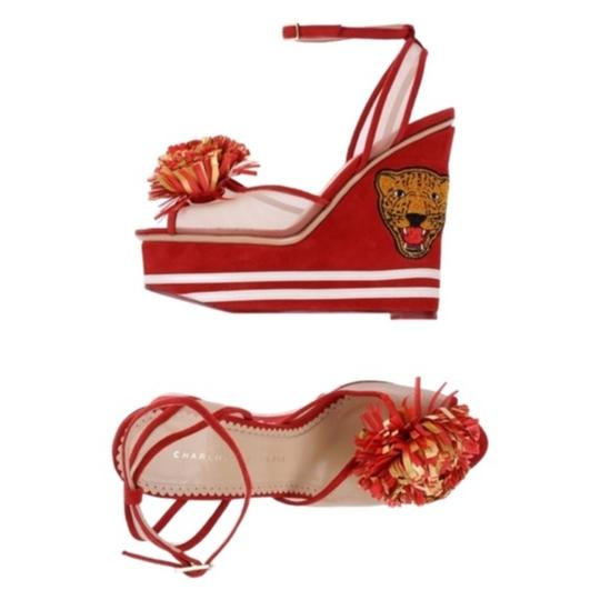 Charlotte Olympia Red Wedges Image 1