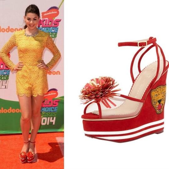 Charlotte Olympia Red Wedges Image 10