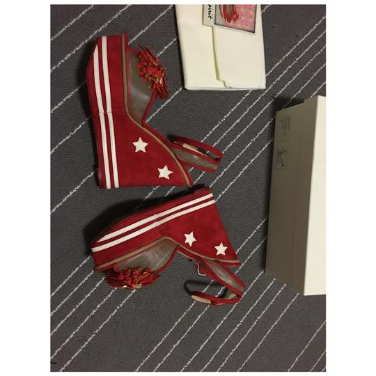 Charlotte Olympia Red Wedges Image 4