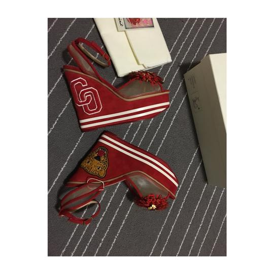 Charlotte Olympia Red Wedges Image 5